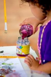 Pintura com tinta natural