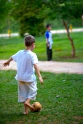 Futebol nos jardins