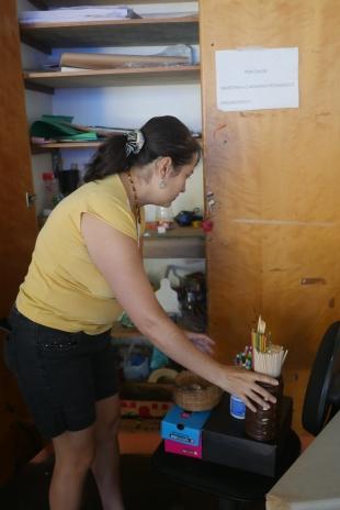 Limpeza dos armários do galpão