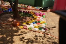 Brinquedos do parquinho todos lavados