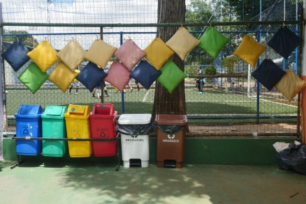 Almofadas lavadas