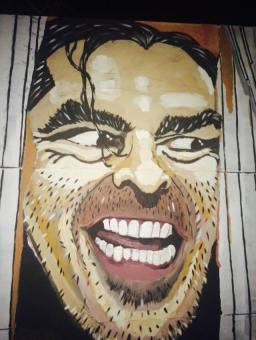 Painel de Jack Torrance feito pelo incrível Paulão